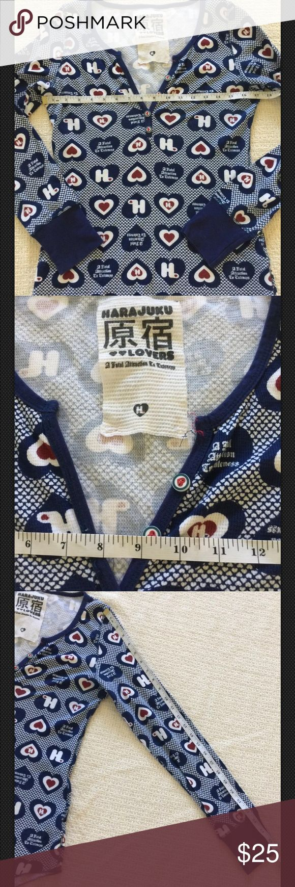 New Harajuku Lovers Thermal Top Sz XL Never worn Harajuku Lovers Tops Tees – Lon…