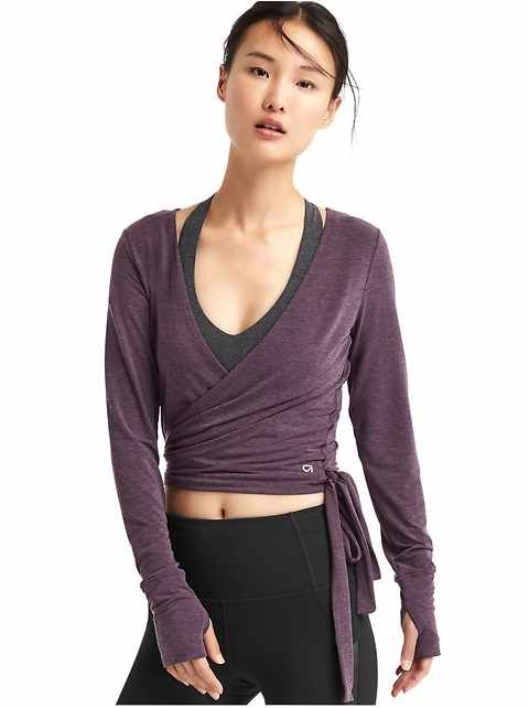 Finally! Some ballet-style wrap sweaters!   GapFit: GapFit: tops | Gap