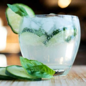 The Gin, Basil & Cucumber Smash Cocktail
