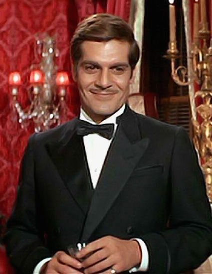 Omar Sharif as Nick Arnstein, the love of Fanny Brice's life in William Wyler's 'Funny Girl', 1968.