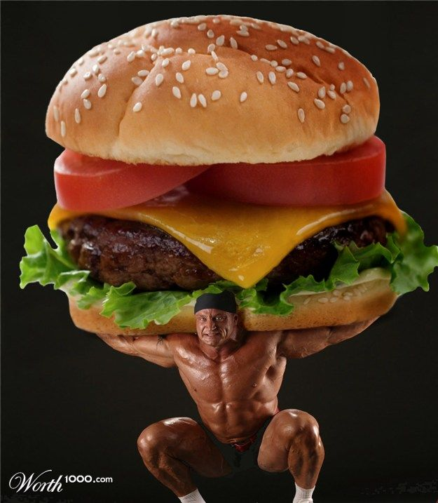 Прикольные картинки гамбургера