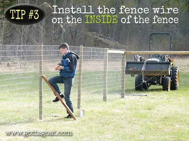 Install the Fence Wire