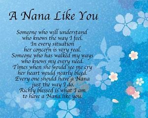 free poems for my nana | Home, Furniture & DIY > Celebrations & Occasions > Other Celebrations ...