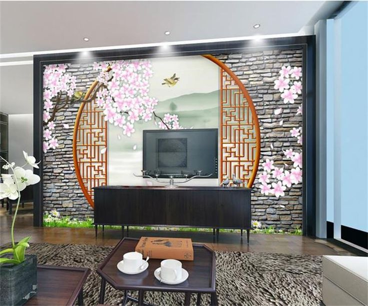 custom photo 3d wallpaper mural non-woven Chinese cherry blossoms decoration painting 3d wall mural wallpaper for walls 3d #Affiliate