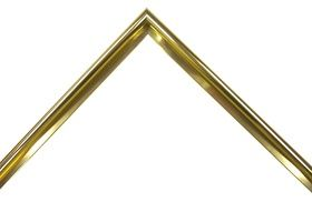 Gold Metal Picture Frame Moulding 811-03 (Rounded/Glossy)