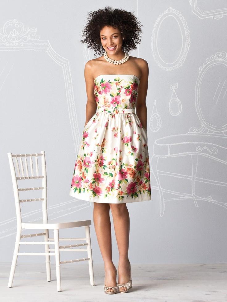 8 best Floral Bridesmaid Dresses images on Pinterest | Bridesmaids ...