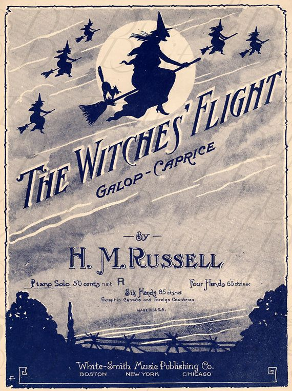 RARE The WITCHES' Flight.  Digital by DandDDigitalDelights on Etsy