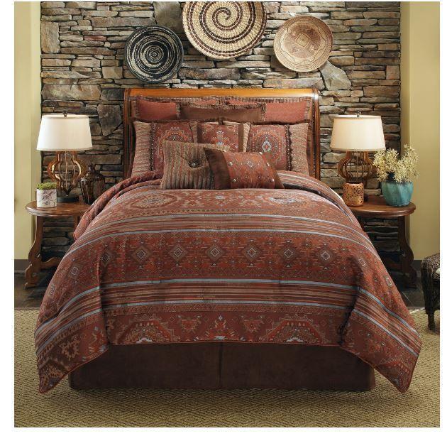 bedding southwest style pueblo geometric queen or king 4 pc comfort - Southwest Bedding