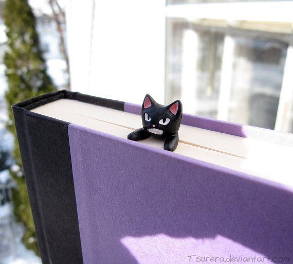 Nya Cat Bookmark - Angry Kitty version - Cat cute Book Mark - Quirky Fun Reading - Geek Grumpy Neko