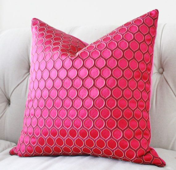 This is a medium scale Raised Satin geometric beautiful bold pillow cover. Please look at the last picture - the close up is so stunning! This is a