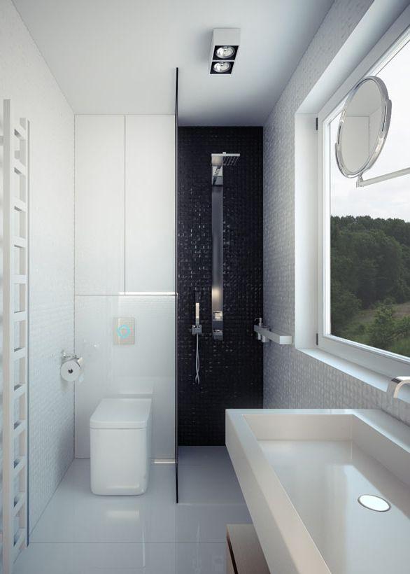 Bathroom design in house POLAND - archi group. Łazienka w domu jednorodzinnym.