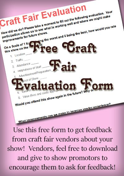 Craft Fair Vendor Questionaire