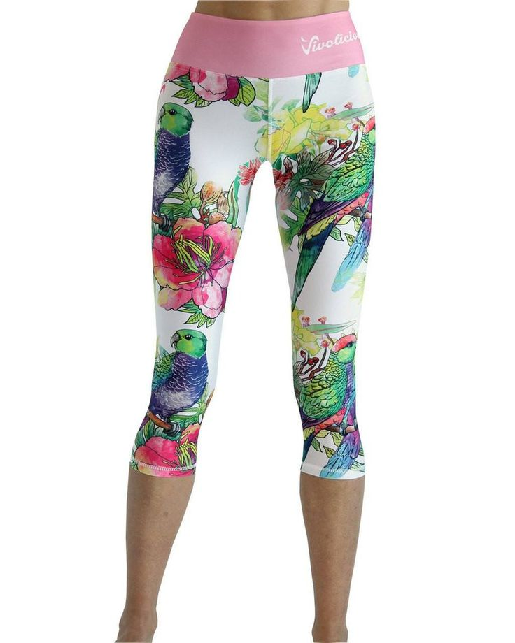 Tech 3/4 Capri Leggings - Summer Paradise #3/4-LEGGINGS #CAPRI #CAPRI-LEGGINGS