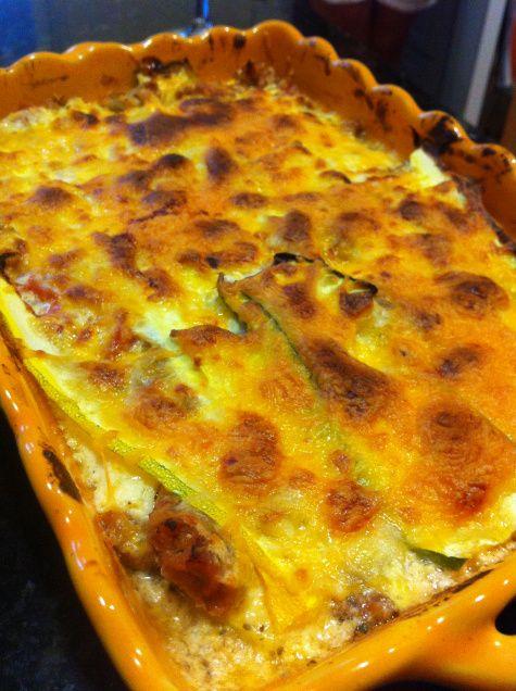 Summer squash and zucchini lasagna