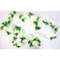 fietsslingers grote bloem wit