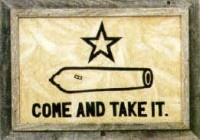 A home isn't a home without the battle of Gonzales Flag.