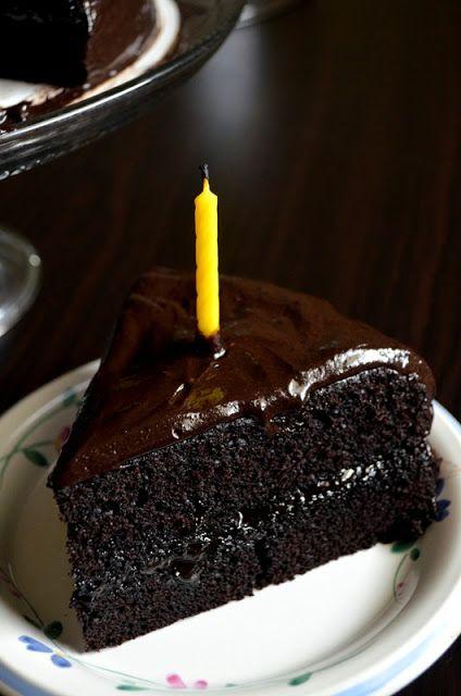 Chocolate Fudge Cake - substitute sour cream with 3/4 coconut milk and half lemon juice or vinegar