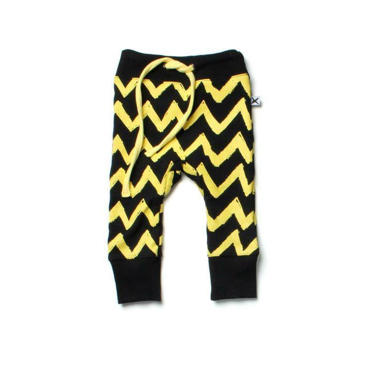 Minti ziggy trackies  Chevron yellow/black http://www.kiddycouture.co.nz/brands-1/minti