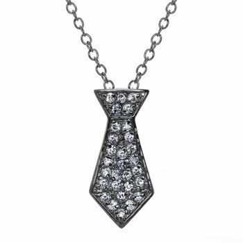 Christian's Petite Grey Tie Necklace Inca. $51.26
