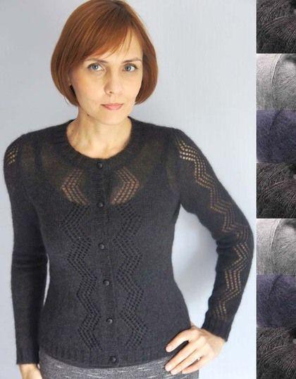 Кофточка из мохера - тёмно-серый,вязание на заказ,вязание на машине,нарядная кофточка