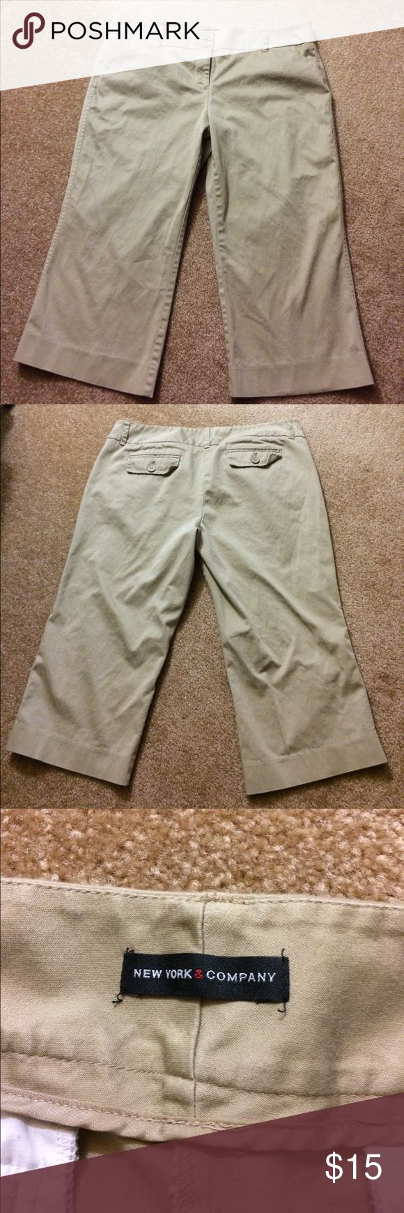 Khaki capris New York and company khaki capris,like new! New York & Company Pants Capris