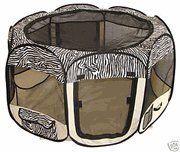 Large Zebra Pet Tent Exercise Pen - http://www.thepuppy.org/large-zebra-pet-tent-exercise-pen-2/