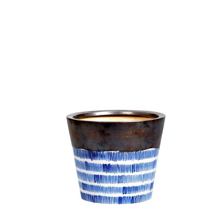 Ceramiczna doniczka Bra'vado M#doniczka #ceramiczna #ceramika #ceramics #pot #flowerpot #shine #gold #blue #unique #nowość #new #amiou #onemarket.pl