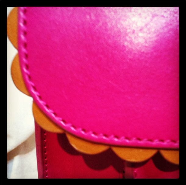 Must remember to use a scallop trim on leather goods!
