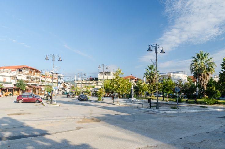 Olympiada Square in the morning #Olympiada #Chalkidiki #Greece