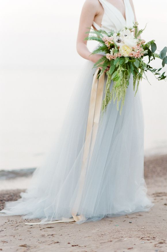 dreamy blue tulle and gorgeous ribbon