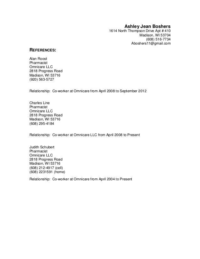 Más de 25 ideas únicas sobre Resume references en Pinterest - omnicare pharmacist sample resume