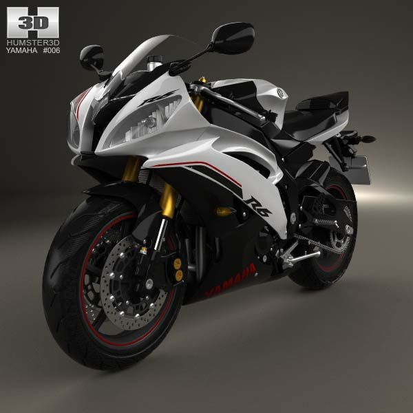 Yamaha YZF-R6 2014 3d model from humster3d.com. Price: $75