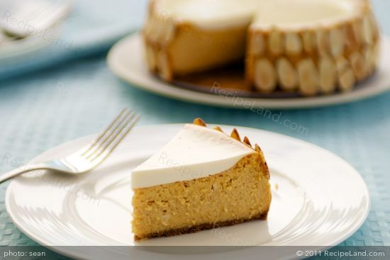 Pumpkin Cognac Cheesecake. Just leave out the almonds