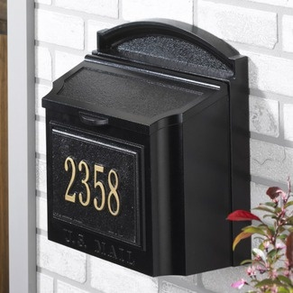 mailbox and house number combo