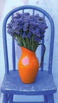 Lavender color for library: Colour, Chairs, Colors, Blue Orange, Garden, Flower, Color Combination