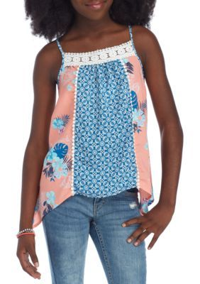 Sequin Hearts Girls Girls' Mixed Print Tank Girls 7-16 - Multi - Xl