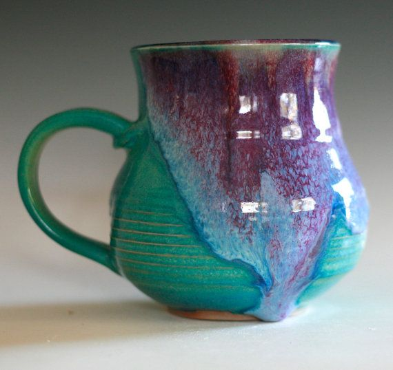 Extra Large Porcelain Coffee Mug 24 oz handmade by ocpottery