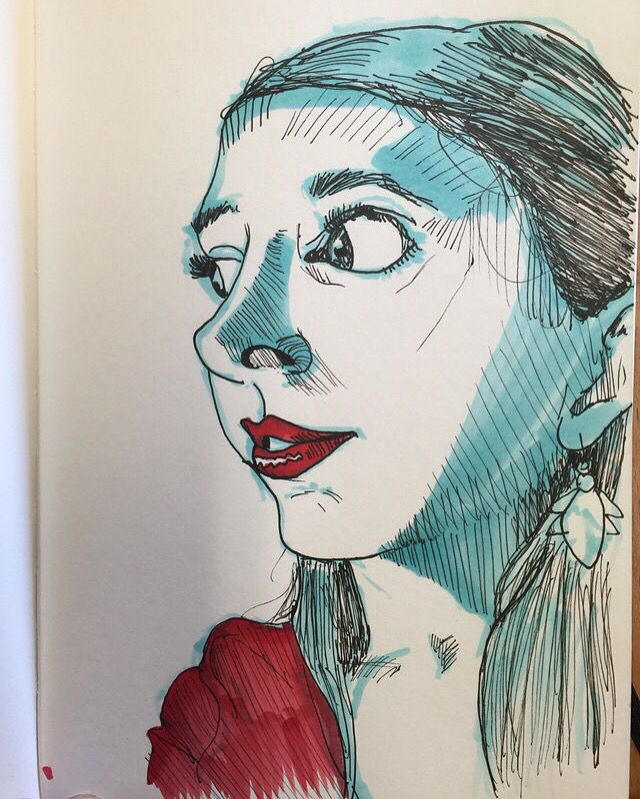 100 stylized portraits number 39!-Matt Fontaine