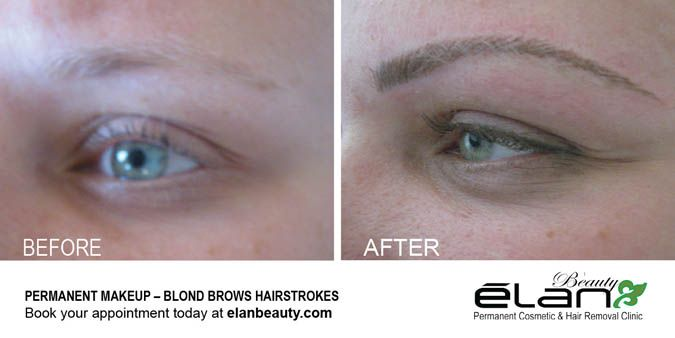 Blond eyebrow hairstrokes #permanentmakeup #eyebrows #eyebrowtattoo #cosmetictattoo #tattoo