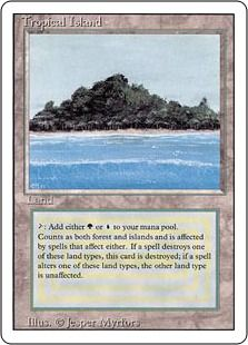 Dual lands #6: Tropical Island (Revised Ed.)