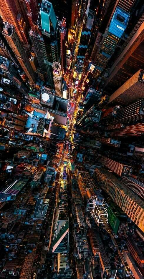 TRAVEL - NIGHT DRONE - U.S.A. NEW YORK CITY - MANHATTAN ISLAND #DronePhotography