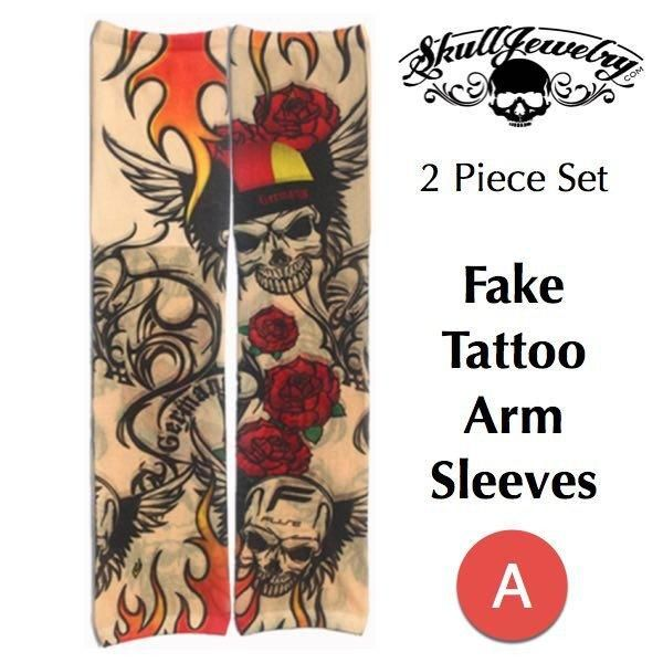 Novelty Fake Tattoo Sleeves Easy to wear tattoo arm sleeves without the pain :-)  Set of 2 Spandex/Nylon One Size Fits All