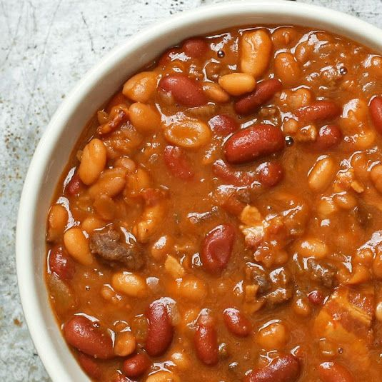 The BEST Baked Beans (Slow Cooker)