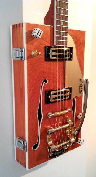 Gretsch style cigar box guitar
