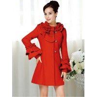 Palton Coquette Red