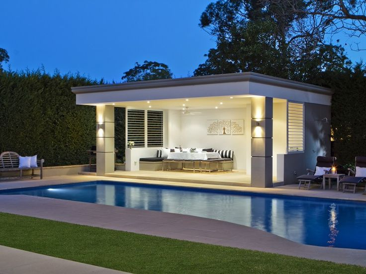 Outdoor open air Cabana, house in St Ives, Sydney Australia