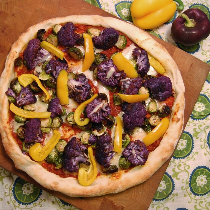 Cauliflower & Brussels Sprouts #Pizza: Homemade sun-dried tomato sauce ...