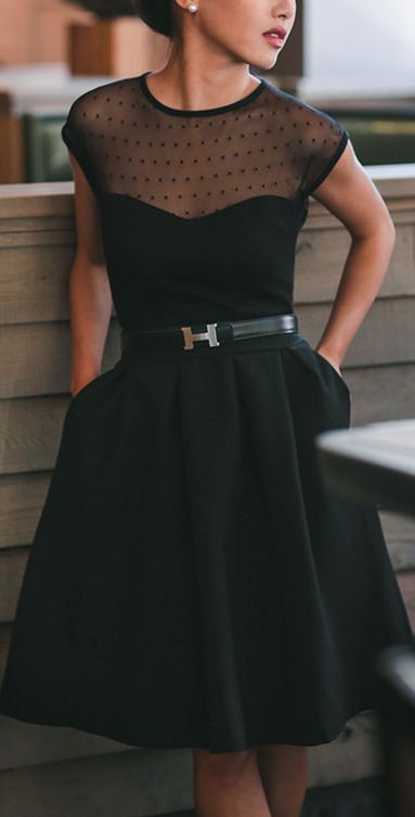Classy black dress for special occasion