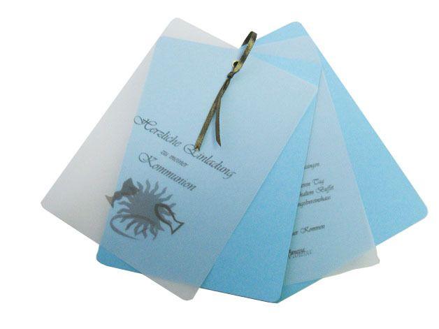 Einladung Kommunion Konfirmation KOMPLETT Text ink