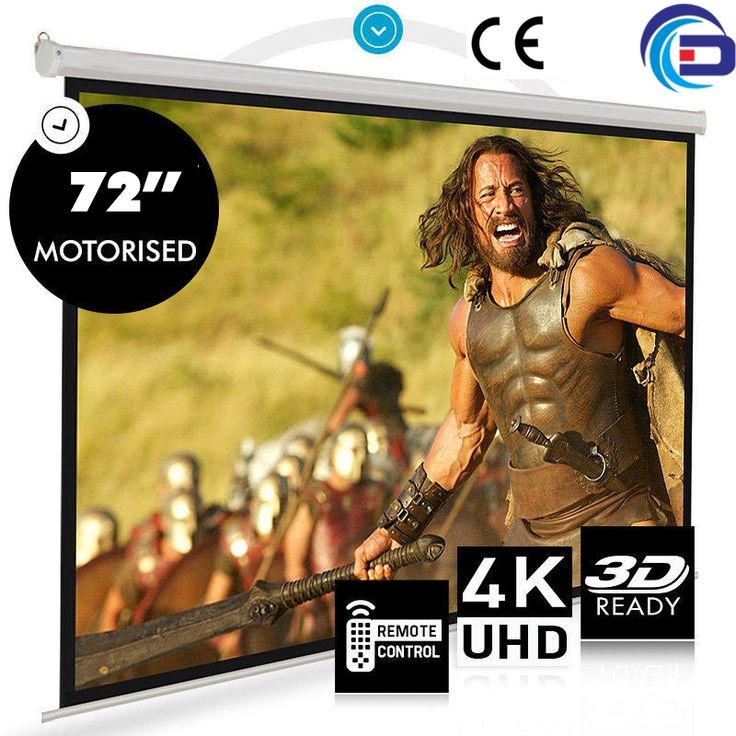 """168.30$  Buy now - http://alikmk.worldwells.pw/go.php?t=32602739330 - """"On sale! 72"""""""" 16:9  HD Electric Projection Screen with Remote Controller Pantalla proyector Motorized Projector Screen"""" 168.30$"""